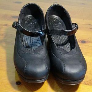 Crocs black shoes size 9